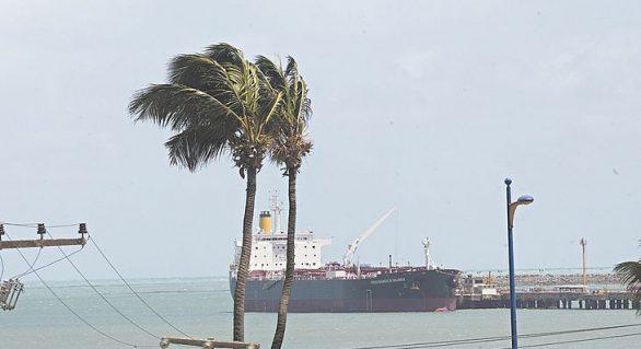 Ventos no litoral alagoano podem chegar a 62 km/h