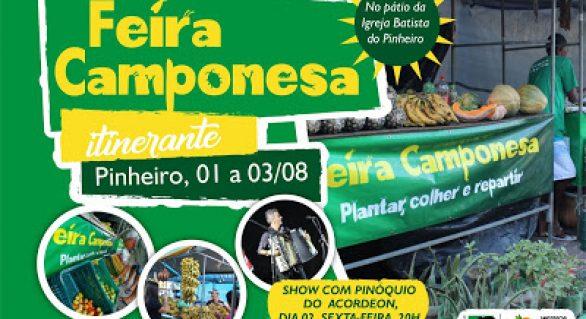 Feira Camponesa itinerante pretende movimentar o Pinheiro