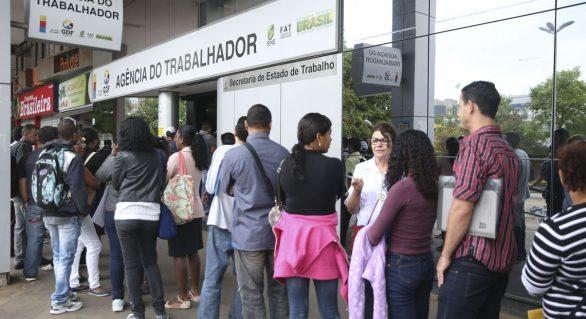 Brasil tem 12% de recuo em taixa de desemprego