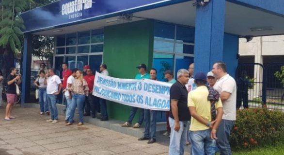 Funcionários da Equatorial protestam contra demissões em massa