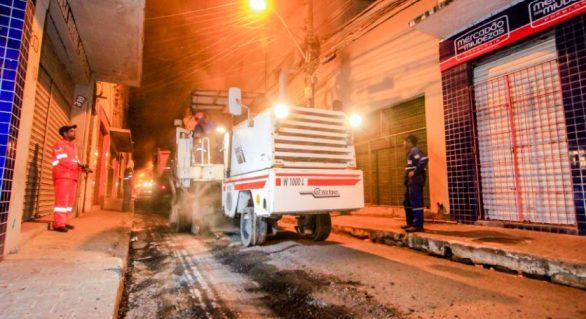 Ruas do centro de Maceió recebem recapeamento