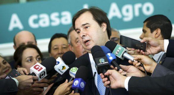 Rodrigo Maia que votar projetos ambientais