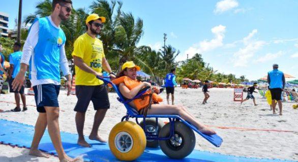 Praia Acessível proporciona lazer inclusivo no sábado (9)