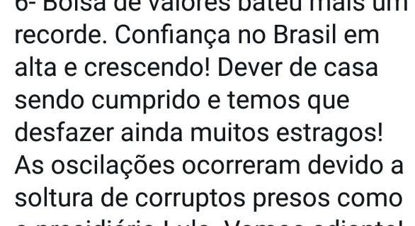 Bolsonaro atribui oscilações na Bolsa com soltura de Lula