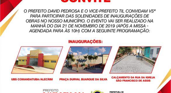 Prefeitura de Porto Calvo Prepara inaugurações para o dia da padroeira