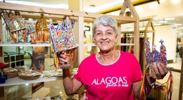 Alagoas Feita Á Mão: Artesãos divulgam produtos em espaço no Maceió Shopping