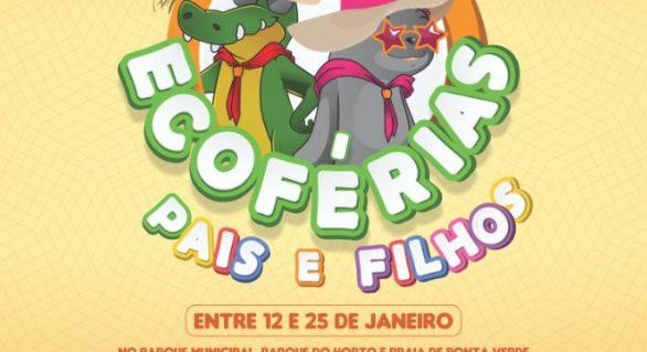 Projeto EcoFérias realiza atividades em parques de Maceió durante o mês de janeiro