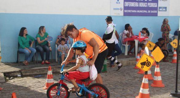 Detran/AL realiza ação para ensinar crianças a andar de bicicleta neste domingo (8)