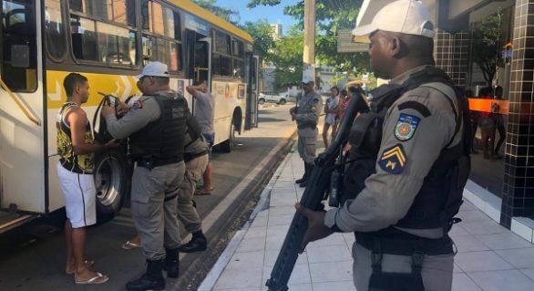 Policiamento reduz em cerca de 90% assaltos a ônibus