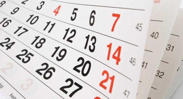 Calendário de 2020 terá seis feriados nacionais prolongados