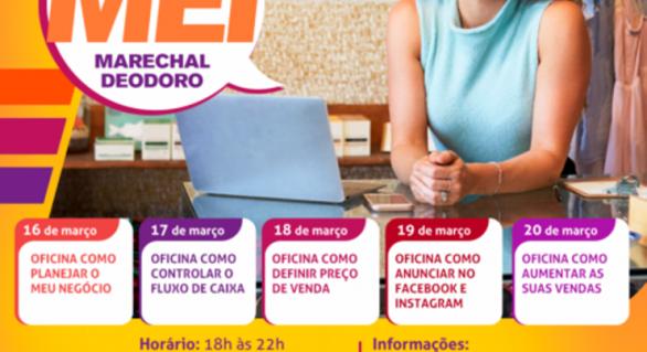 Microempreendedores individuais de Marechal Deodoro terão ciclo de palestras e oficinas