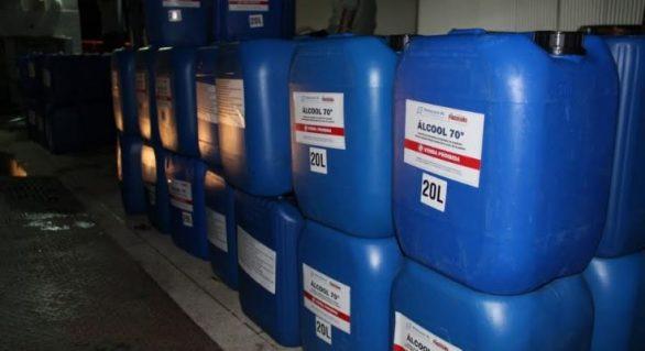Governo de AL começa a receber álcool doado por usinas