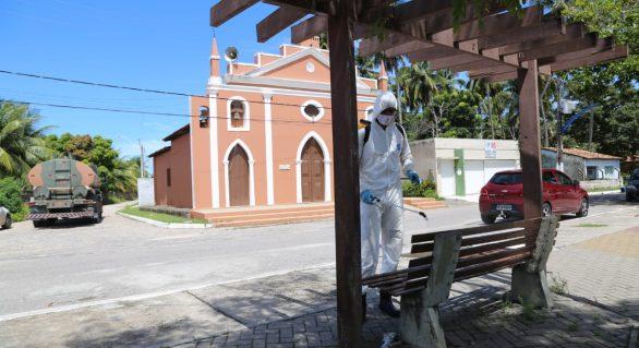 Exército inicia desinfecção das ruas de Marechal Deodoro
