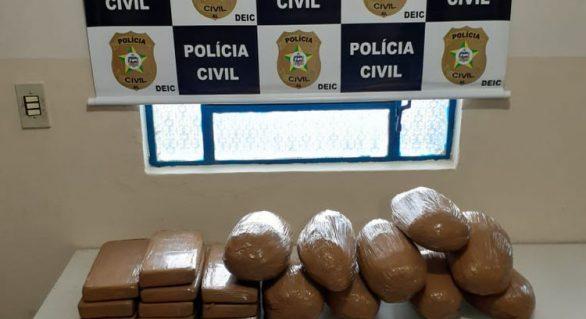 Polícia Civil prende dois homens acusados de tráfico de drogas