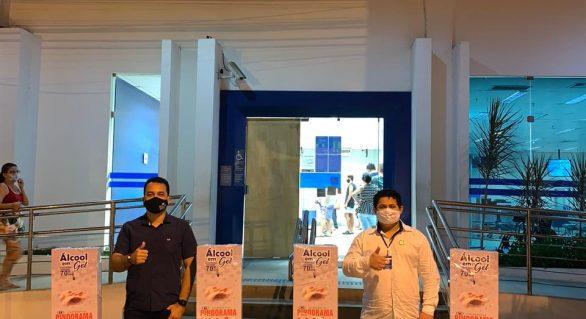 Pindorama firma parceria para instalar totens com álcool em gel em Arapiraca