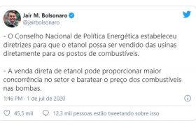Nova medida aprovada por Bolsonaro beneficia usinas alagoanas