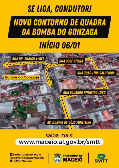 Bomba do Gonzaga tem novo contorno de quadra implantado na segunda-feira (6)