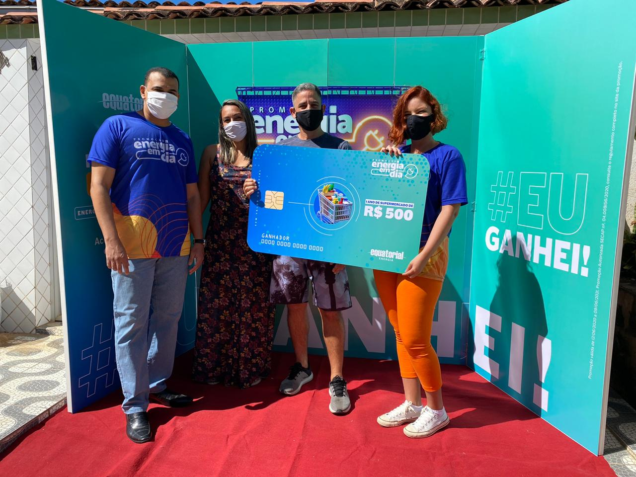 Equatorial entrega prêmios aos primeiros ganhadores da Campanha Energia em Dia
