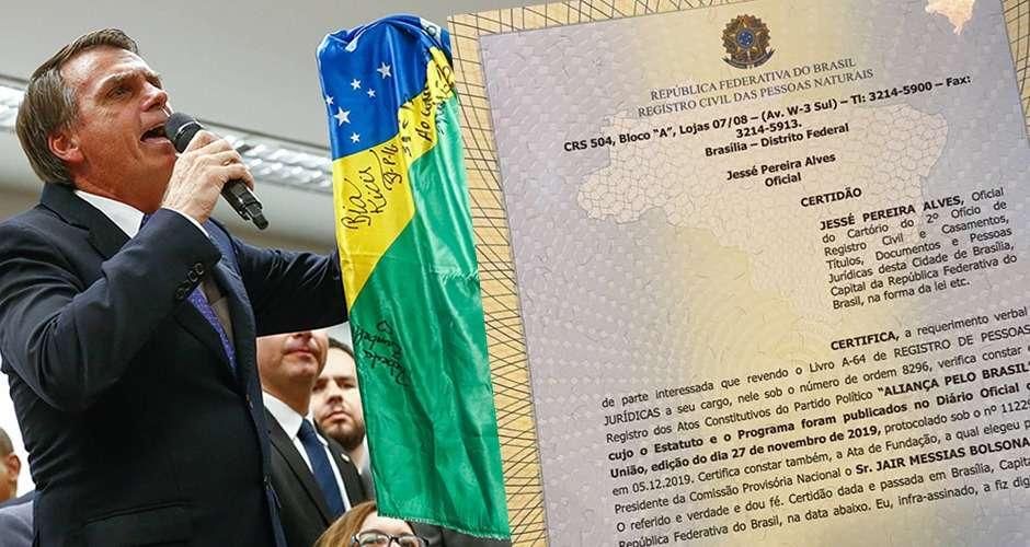 Bolsonaro registra criação de novo partido em cartório