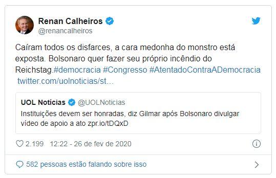 Bolsonaro recebe duras críticas de parlamentares