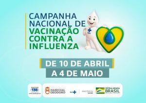 Prefeitura inicia hoje campanha contra Influenza e inaugura Ginásio Poliesportivo