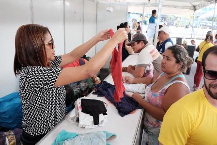 Ajuda humanitária: cadastro de área azul clara segue até sexta