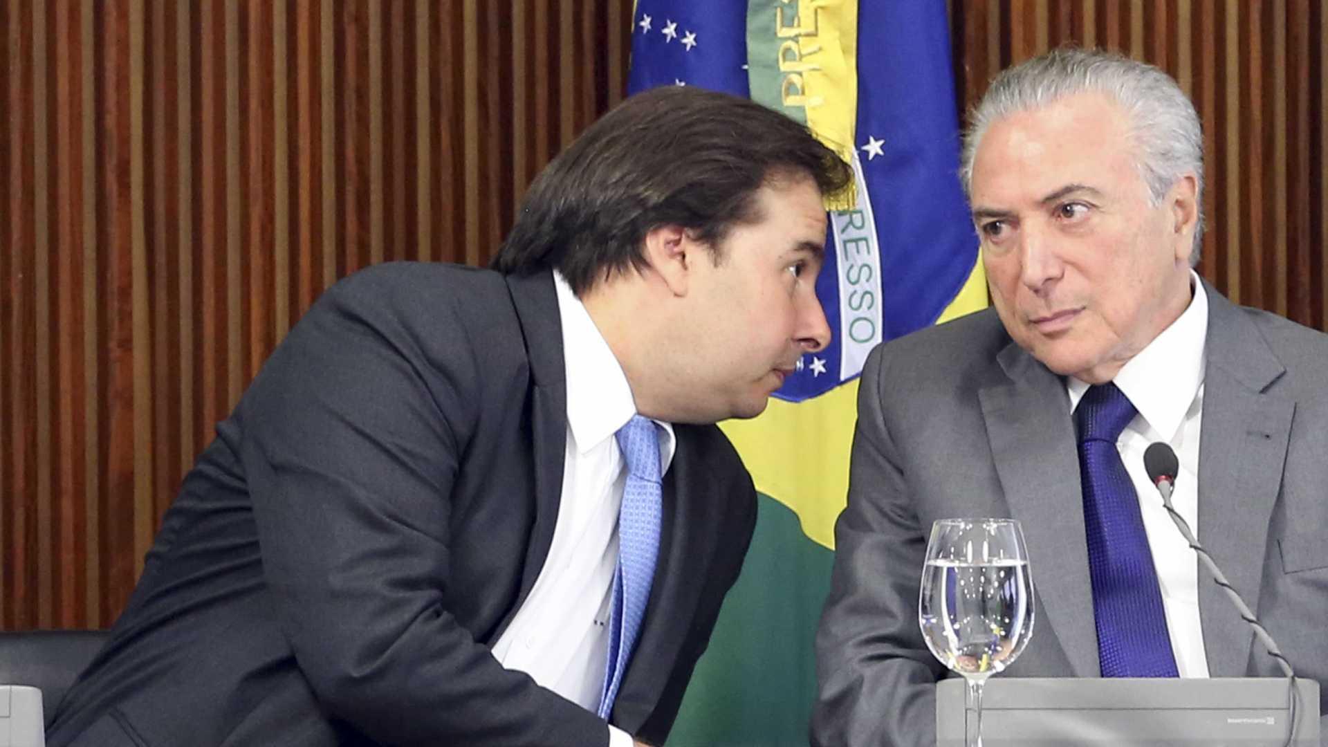 'Não fiz com eles o que eles fizeram com Dilma', diz Maia sobre governo
