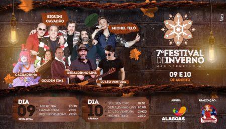Prefeitura de Mar Vermelho divulga a VII edição do Festival de Inverno nos dias 09 e 10 de agosto