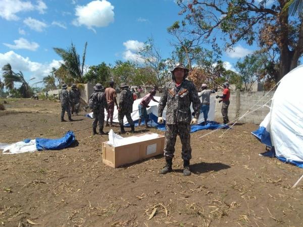 Bombeiro alagoano participa do resgate a vítimas de ciclone em Moçambique