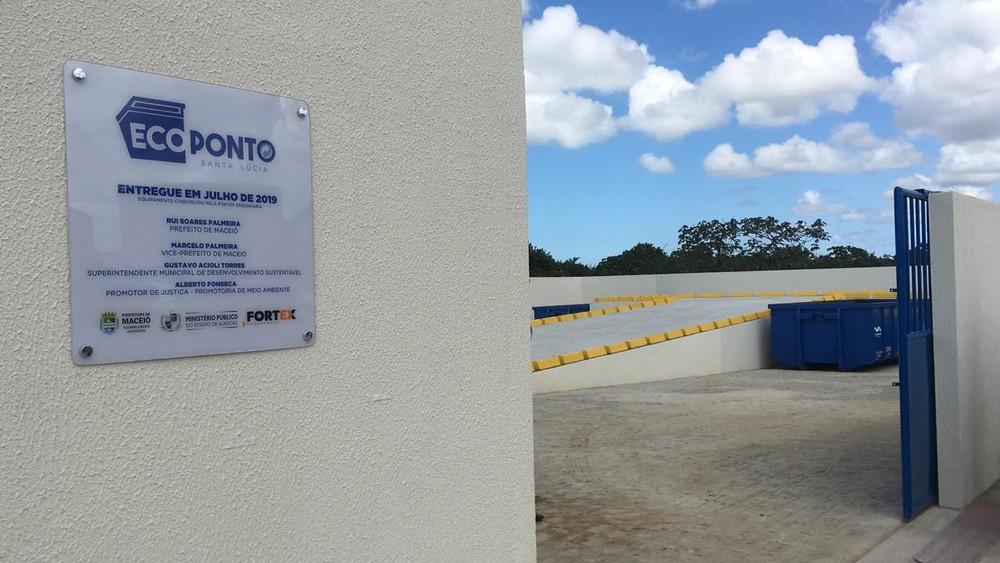 Ecoponto é inaugurado no bairro da Santa Lúcia, em Maceió