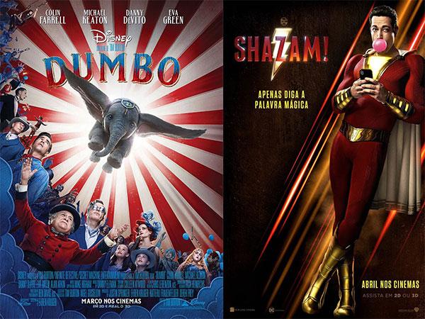 Dumbo e Shazam chegam às salas de cinema de Alagoas