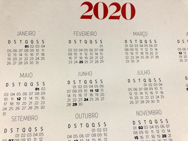 Governo de Alagoas divulga feriados previstos para 2020