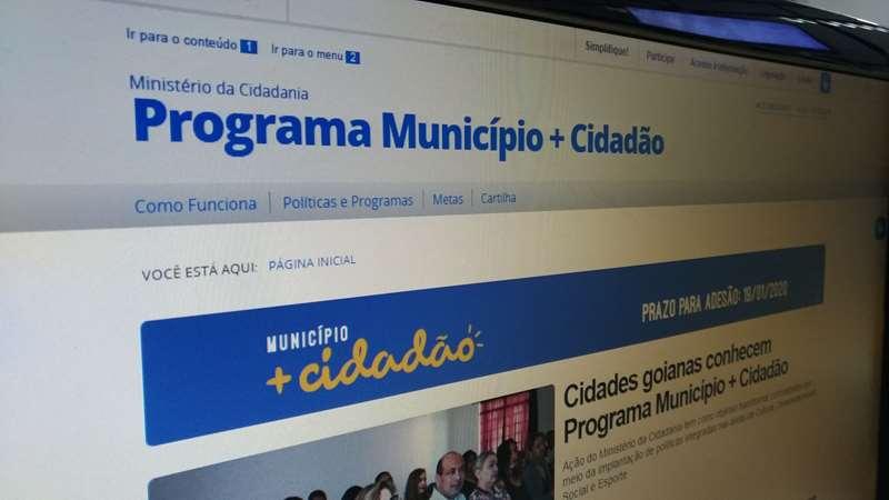 Município Mais Cidadão: Data para adesão vai até 15 de março