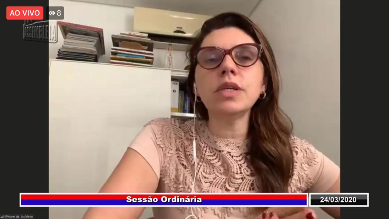 Em pronunciamento, deputada Jó Pereira sugere plano emergencial do Fecoep