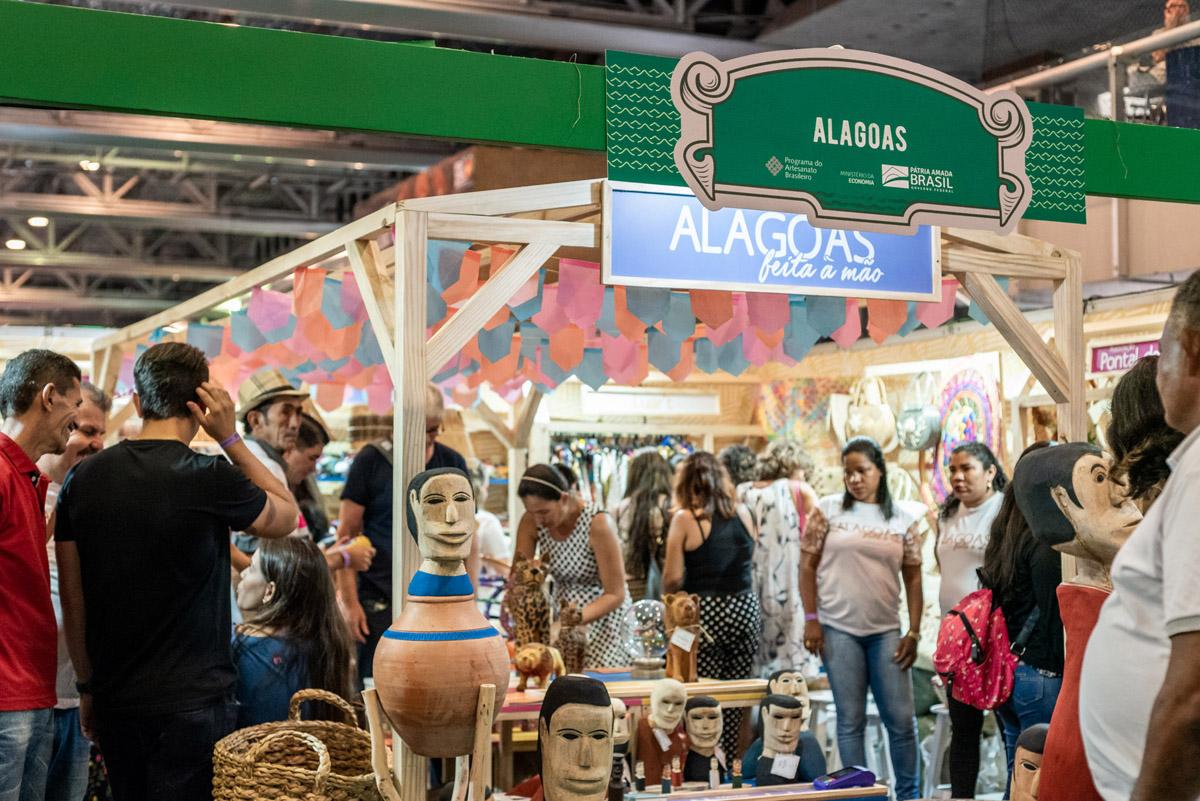 Artesanato alagoano gera mais de R$300 mil durante Feira Nacional