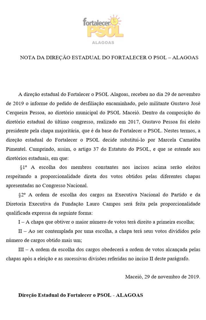 Marcela Carnaúba assume direção estadual do PSOL em Alagoas