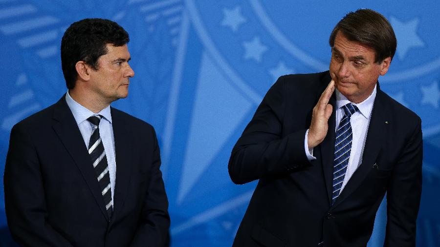 Bolsonaro nega possibilidade de Sergio Moro ser seu vice em 2022