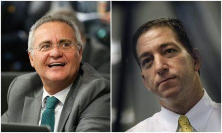 Renan Calheiros defende o ativista norte-americano Glenn Greenwald