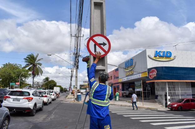 Novo contorno de quadra da Bomba do Gonzaga recebe sinalizações