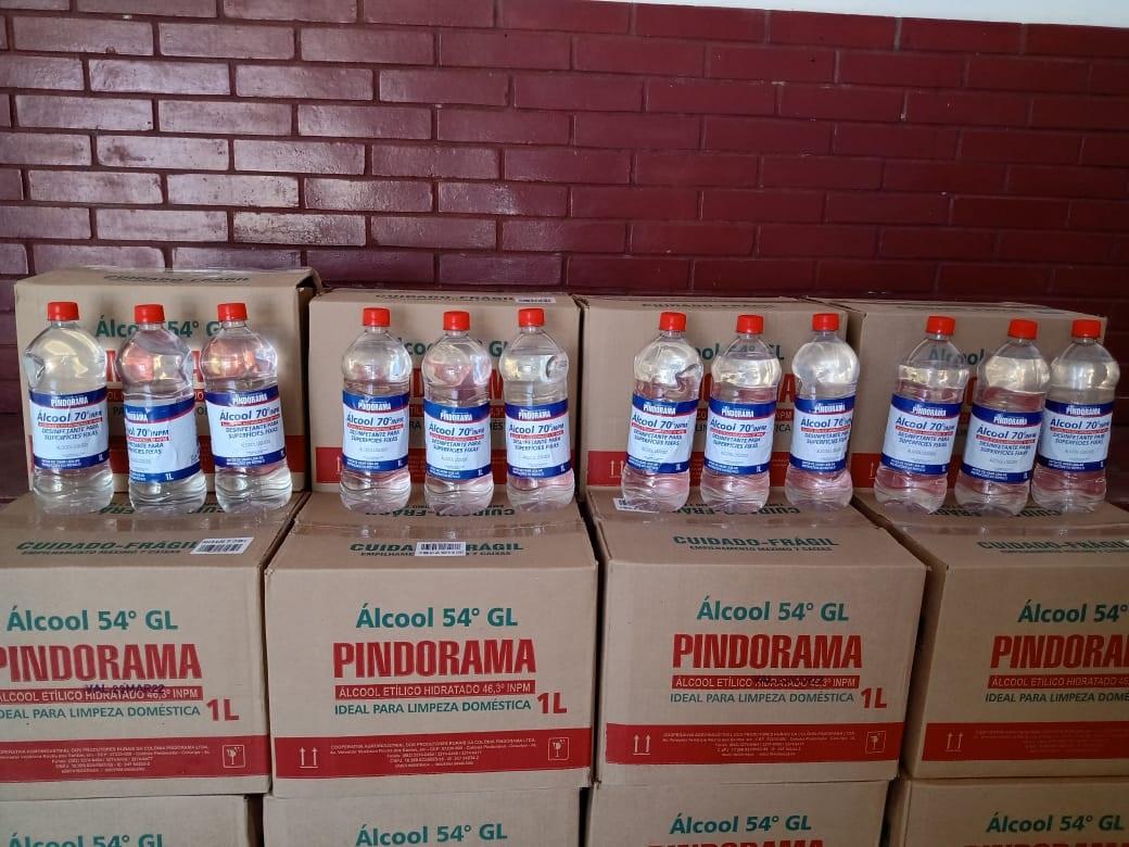 Pindorama distribui álcool 70 aos associados