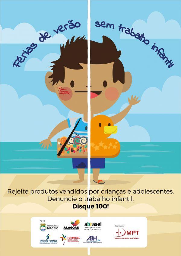 MPT lança campanha de combate ao trabalho infantil no verão
