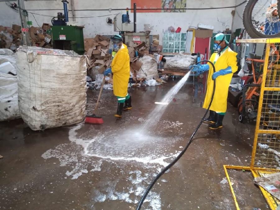 Alagoas: Cooperativas seguem orientações de saúde e higienização nos galpões