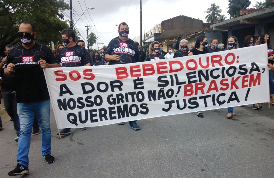 Bebedouro: Moradores fazem novo protesto contra a Braskem
