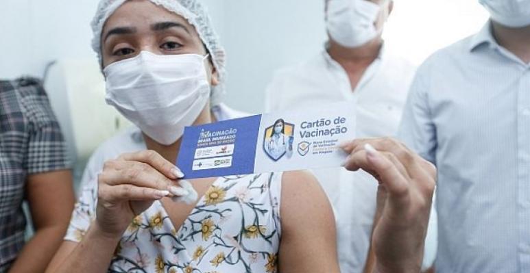 Mais de 90.500 alagoanos já se vacinaram contra a Covid-19
